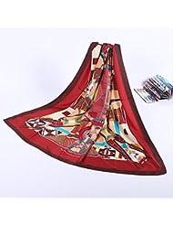 ZLL Impresos bufandas de sol, vintage de seda, mantón de la señora , 1