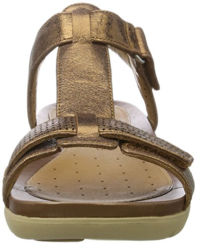 Clarks Damen Un Haywood T-Spange, Gold (Bronze Metallic), 38 EU -