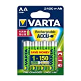 batterie rechargeable Varta Accu Ready2Use Mignon AA Ni-Mh (4-Pack, 2400mAh)