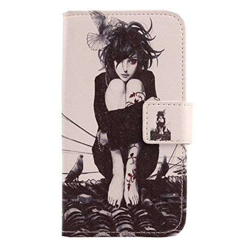 Lankashi PU Flip Leder Tasche Hülle Case Cover Schutz Handy Etui Skin Für Doogee Voyager2 Dg310 Roof Girl Design