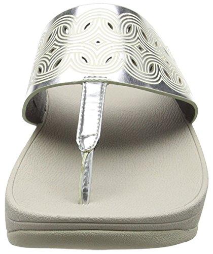 FitFlop Damen Bahia Sandalen Silberfarben