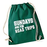 Best Road Trip Routes - HippoWarehouse Sundays Are For Road Trips Drawstring Cotton Review