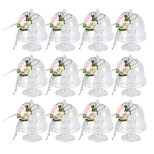 UPKOCH Mini-Cupcake-Ständer für Kokosnuss/Macarons/Rum Bälle, transparent, 12 Stück (Cupcake-kuppel)