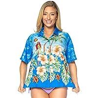 collare abbigliamento da spiaggia top button down camicetta coprire camicia hawaiana maniche corte signore