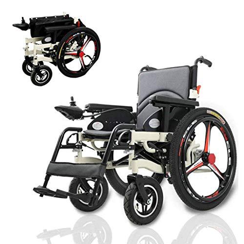 AMINSHAP Intelligenter Leichter Faltbarer Elektrischer Rollstuhl, Kompakter Beweglicher Doppelmotor des Rollstuhl-250W * 2 Mit Energie Oder Gebrauch Als Manueller Rollstuhl Für Untaugliche Ältere