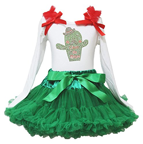 Cinco De Mayo Kleid Kaktus Weiß L/S Shirt grün Chevron Rock Girl Outfit-74bis 122 Gr. X-Small, Mehrfarbig