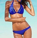 Chiemsee Marken-Bügel-Bikini royalblau Größe 36 D-Cup