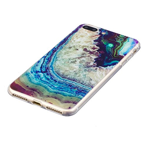 Coque iPhone 7 Plus, iPhone 7 Plus Coque Silicone Transparent, SainCat Ultra Slim Transparent TPU Silicone Case Cover pour iPhone 7 Plus, Coque Anti-Scratch Crystal Clear Soft Gel Cover Coque Fleur Tr Les Vagues