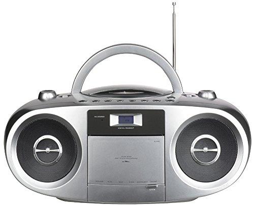 Terris RW224rrc 223/243Stereo Grabador de radio plateado | kasette deck| CD, MP3, sintonizador | Bass Boost |