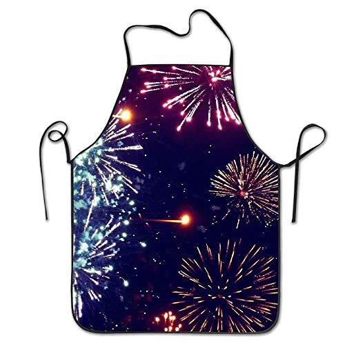QIAOJI Küchenschürze, Motiv Feuerwerk
