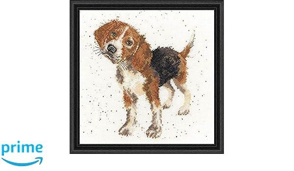 Bothy Threads Wrendale Designs Beagle Hund gezählter Kreuzstich Stickpackung