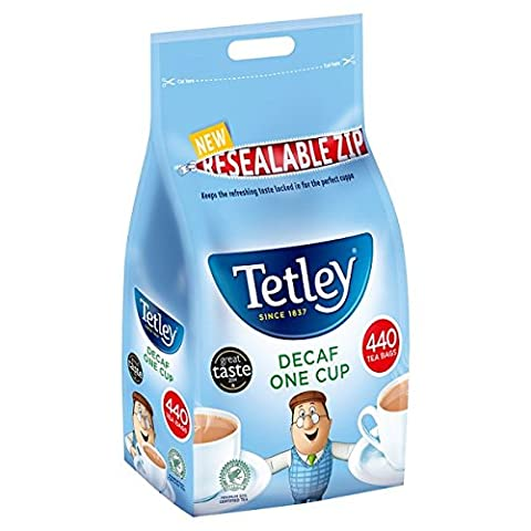 ( 440s Pack ) Tetley Decaf One Cup 440 Tea Bags 1kg