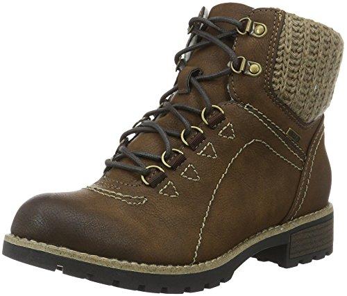 Jana Damen 26215 Combat Boots Braun (Cafe 361)