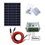 ecoworthy 100 Watt 12 V Solar Panel Kit + 15 A Laderegler für 12 Volt Off Grid Akku System