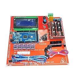 HITSAN 3D Printer Kit RAMPS 1.4+Arduino Mega 2560+DRV8825+2004 LCD+PCB Heat Bed MK2B