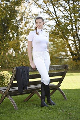 Covalliero Damen Basicplus Größe Reithose, Weiß, 38