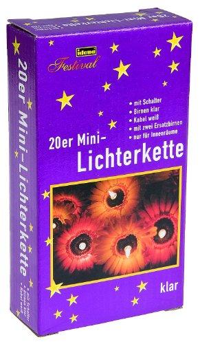 Mini Lichterkette 20-er Set für Innen, 4.1 m, weiß 8582138