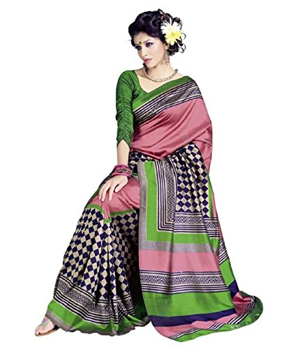 Meher Silk Checks Saree (SD18187_Pink)