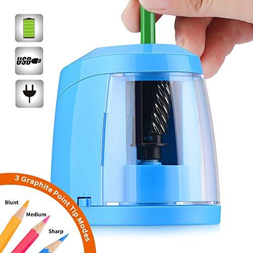Elektrischer Anspitzer, SMARTRO Bleistiftspitzmaschine Electric Pencil Sharpener , USB oder Batterien Betrieben
