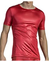 Olaf Benz RED 1511 Men's T-shirt round neck short sleeve One slight gloss - Tabasco