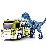 ZFF-WJ Legierungsmodell des Dinosaurieranzugs Nicht for den Straßenverkehr LKW mit Tierspielzeug...