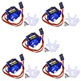 Micro Servo Motor,SG90, Servo, 9G RC Robot Helicopter Airplane Boat Controls LKY66-UK-5
