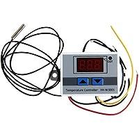 UKCOCO Controles del termostato de temperatura digital 12V 120W Calefacción y refrigeración para unidades de fan coil de aire acondicionado central (blanco)