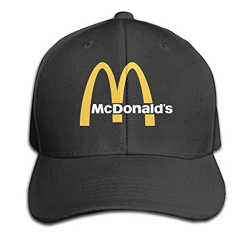 hittings-traveleat-mcdonalds-90s-logo-unisex-peaked-baseball-cap-snapback-hats-black