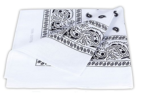 ilovediy-bandana-foulard-carre-avec-motif-cachemire-fichu-paisley-en-coton-multi-usages-blanc