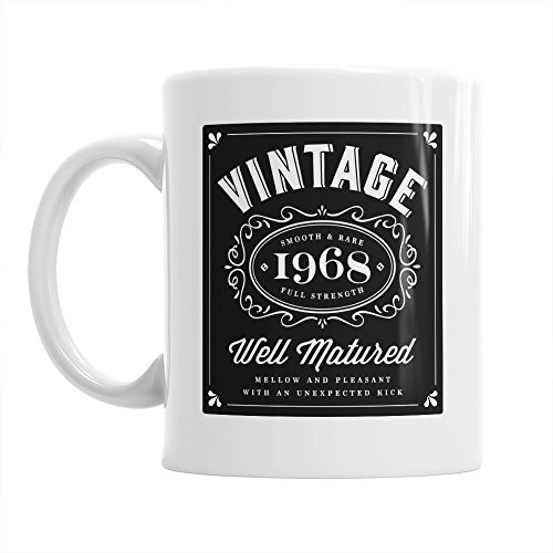 50th Birthday Gift Vintage Bourbon Gifts For Men Women 1968 Coffee Mug