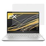 atFolix Panzerfolie kompatibel mit HP Pavilion x360 14-cd1005ng Schutzfolie, entspiegelnde & stoßdämpfende FX Folie (2X)