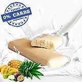 Protein Riegel OHNE Kohlenhydrate 54,1% Protein bar TROPICAL Eiweiß Riegel 50 g (10 Stück) **Der ERSTE Eiweißriegel KOHLENHYDRATFREI 0%** WHEY High Proteinriegel Frucht/fruit OHNE ZUCKER *GERMANY*