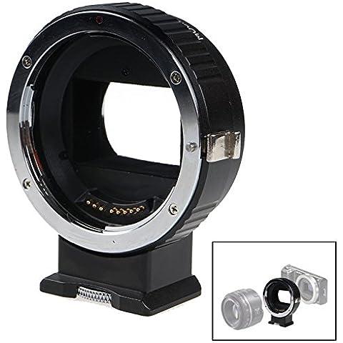 fomito electrónico Enfoque automático EF-NEX EF-eMount FX Adaptador de montura de lente para la lente Canon EF EF-S a Sony E Mount NEX A7, A7R, A7S Full