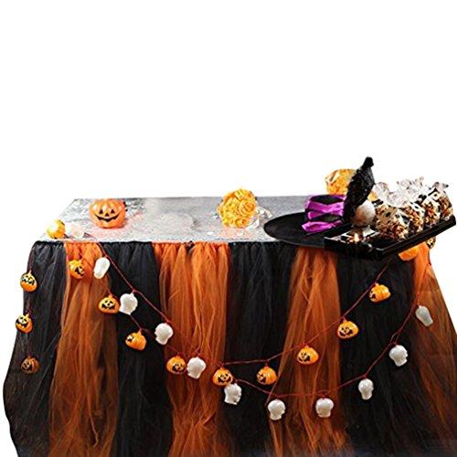 Ketamyy Flaumig Tutu Gaze Tisch Röcke Hochzeit Festival Geburtstag Banquet Party Dekoration Tutu Tischrock Mit Klettverschluss Halloween 91.5cm*80cm