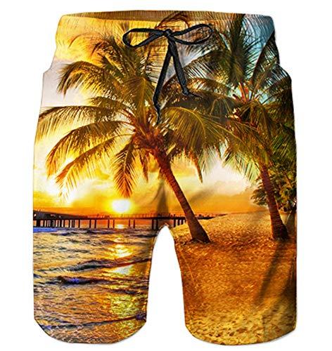 AIDEAONE Herren Hawaii Beach Surf Shorts 3D Print Grafik Badehose