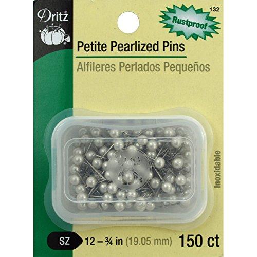 Dritz Petite perlé pins (Lot de 150), Taille 12