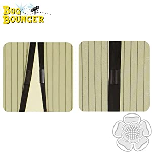 JVL Magnetic Self-Close Insect Fly Door Curtain Screen Bug Bouncer, Black