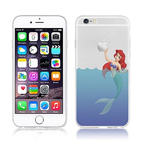 OB4me New Disney Princesses AREIL TRANSPARENT Clear TPU Soft CASE for Apple iPhone 7 - AREIL 5