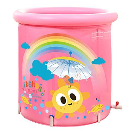 My-Schwimmbad Badewanne Badewanne Für Kinder Eimer Für Badewanne Rainbow Alloy Bracket 5 Level Lifting Tintenwärmer Baby Pool (Farbe : Pink) (Licht Bracket Fünf)