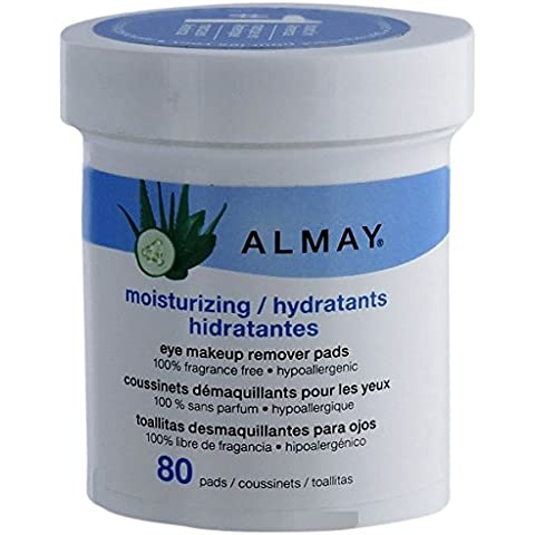Almay Moisturizing Eye Makeup Remover Pads, 80-Pads by Almay