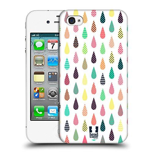 Head Case Designs À Motifs Modèles De Gouttelette Étui Coque D'Arrière Rigide Pour Apple iPhone 4 / 4S À Motifs