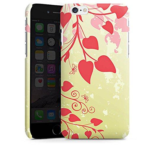 Apple iPhone X Silikon Hülle Case Schutzhülle Blätter Liebe Herz Premium Case matt
