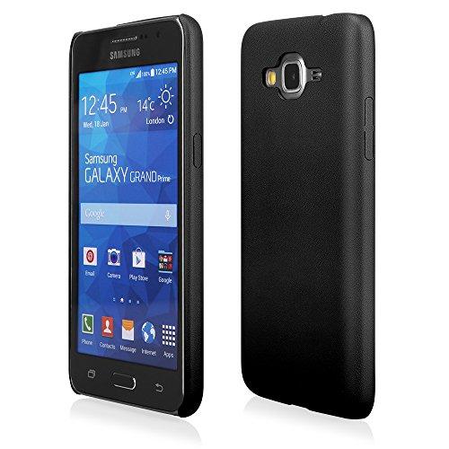 EGO® Ultra Slim Back Case Schutz Hülle für Samsung Galaxy S5 mini dunkelblau elastisch Schutzhülle Cover Handytasche Schale Leder Dünn Bumper Schwarz