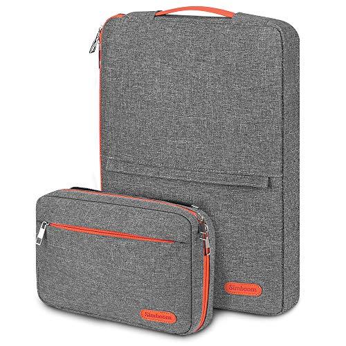SIMBOOM 13,3 Zoll Laptoptasche Hülle Sleeve Wasserdicht Notebooktasche Aktentasche mit Aufbewahrungs Zubehörtasche kompatibel mit 13