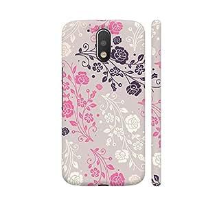 Colorpur Pink Royal Floral Pattern Artwork On Motorola Moto G4 / Moto G4 Plus Cover (Designer Mobile Back Case) | Artist: Neeja Shah