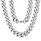 ChainsPro Hiphop Punk Jewelry Miami Heavy Curb Catena a Maglia Cubana Design per Uomo 46-76cm