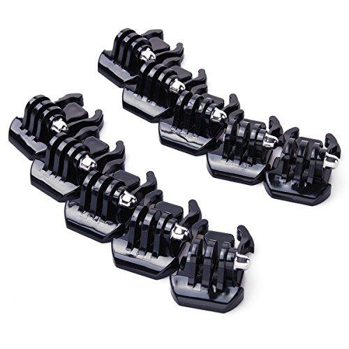 XCSOURCE® 10x Einfache Schnallenklipbefestigung für Gopro Hero 2 3 3+ 4 SJ4000 SJ5000 Zubehör Gehäuse Helm OS193