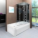 AcquaVapore DTP50-A302L Whirlpool Wanne Duschtempel Dusche Duschkabine 180x90, EasyClean Versiegelung der Scheiben:2K Scheiben Versiegelung +79.-EUR