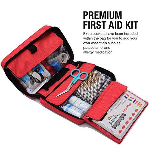 51yK2Bw tTL - HONYAO Botiquín de Primeros Auxilios, Bolsa Médica de Emergencia - Kit de Supervivencia para el Hogar, Automóvil, Campamento, Oficina, para Viaje y Deportes Al Aire Libre