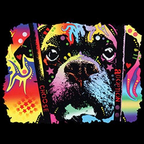 Boxer-Langarmshirt /Longsleeve mit coolem Dog-Neon-Druck: Choose Adoption Boxer für Hundefreunde Schwarz